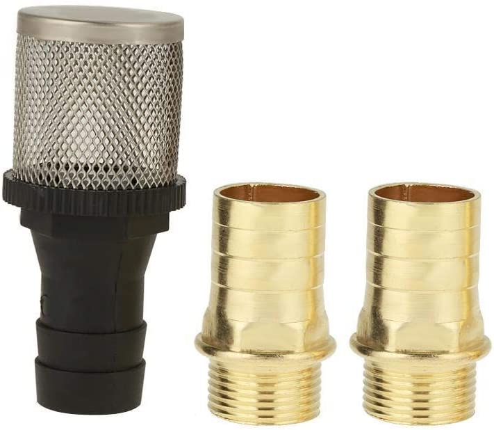Rockyin 12V 40L//min Portable Self Priming Fuel Diesel Pump Oil Transfer Pump G3//4 Outlet for 1inch Hose