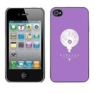 // PHONE CASE GIFT // Duro Estuche protector PC Cáscara Plástico Carcasa Funda Hard Protective Case for iPhone 4 / 4S / Warlock abisario /