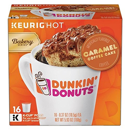 Dunkin Donuts Caramel Coffee Cake Keurig KCups 32 count 2 Boxes of 16