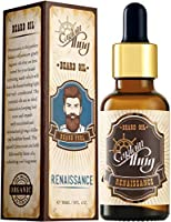 Captain Thug Beard Oil - Beard and Mustaches Growth for Men - (Spiced Citrus) Renaissance - 8 Coldpressed Premium...