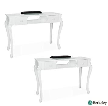 Ordinaire Set Of 2, Manicure Table FIONA WHITE Nail Salon Furniture Queen Rise Style  Nail Table