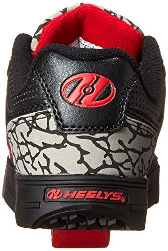 Heelys Motion 770307, negro-gris-rojo, 40.5