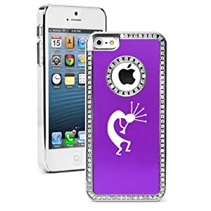 Apple iPhone 5 5S Purple 5S2573 Rhinestone Crystal Bling Aluminum Plated Hard Case Cover Kokopelli
