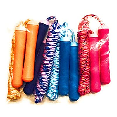 Play Day 7 Foot Jump Ropes Party Pack 4 Count: Pink, Blue, Purple & Orange; Kid's Children's Party Fun Ages 3+: Sports & Outdoors