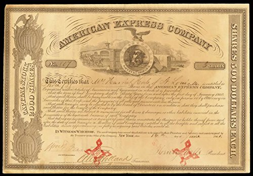 the-american-express-company-stock-certificate-signed-06-14-1861-with-co-signers