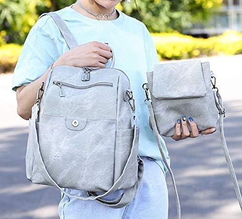 SUZIHUA Handtasche Damen Schultertasche Einkaufstaschedamenrucksack Grau