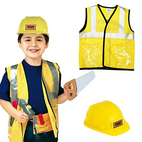 [OUTAD Children's Engineer Role Play Costume Set, Ages 3-6 yrs] (Construction Girl Costume)
