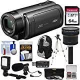 JVC Everio GZ-RY980 Quad Proof 4K Ultra HD Video Camera Camcorder with 64GB Card + Case + Fisheye Lens + Microphone + LED Light + Tripod Kit