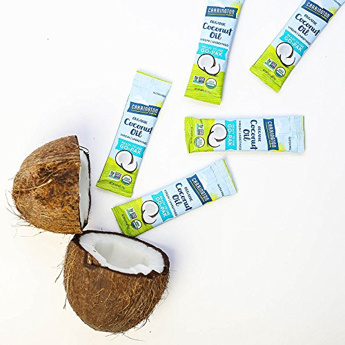 Carrington Farms Gluten Free, Unrefined, Cold Pressed, Virgin Organic Coconut Oil, 8 Packets (Pack of 6), Coconut Oil For Skin & Hair Care, Cooking, & Smoothies by Carrington Farms (Image #8)