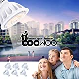 MR16 LED Light Bulbs with GU5.3 Base 50W Equivalent Halogen Replacement Warm White 3000K 5W 12V Spotlight with 450 Lumens 6 Packs by COOWOO
