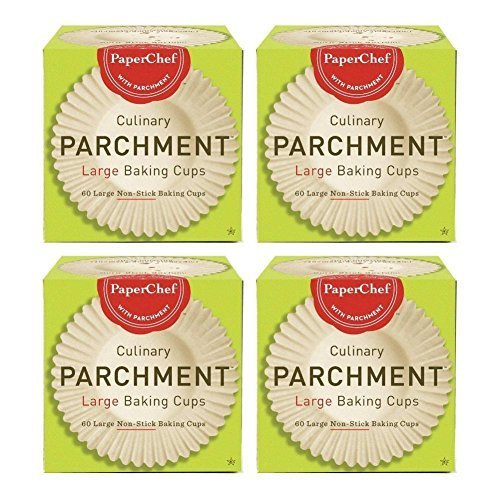 Standard Paper Cupcake Liners / Baking Cups, 60-ct / Box (Pack of 4) by PaperChef