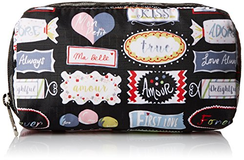 LeSportsac Rectangular Case Cosmetic Bag, Sweet Talk, One - Rectangular Sweet