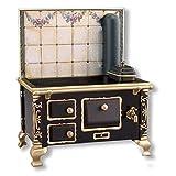 1 12 scale stove - Dollhouse Miniature Roseband Tile Tin Kitchen Cook Stove
