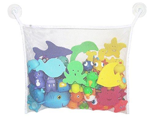 EJY Baby-Bad-Zeit-Spielwaren Lagerung Absaugbeutel Klapphänge Ineinander greifen-Netz Badezimmer Dusche Badespielzeug Veranstalter 45x35cm