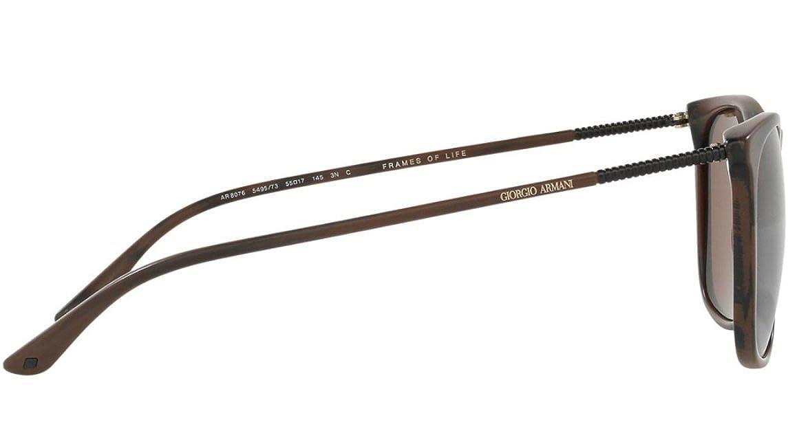 41e652b6102 Amazon.com  Giorgio Armani AR 8076 - 549573 Sunglasses Dark Brown  Brown  55mm  Clothing