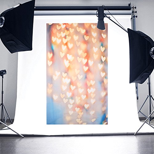 SCASTOE Party Photography Backdrop Bokeh Sparkle Love Heart Photography Background Computer printed Seamless Studio Background Props