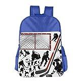 Gibberkids Child's Hockey Player School Backpack Bookbag Boys/Girls For 4-15 Years Old RoyalBlue