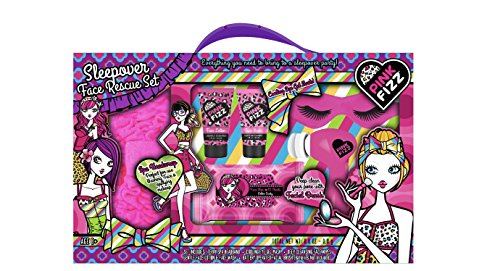 Pink Fizz Sleepover Face Rescue Set - Moisturizing Facial Kit With Battery Operated Facial Brush!