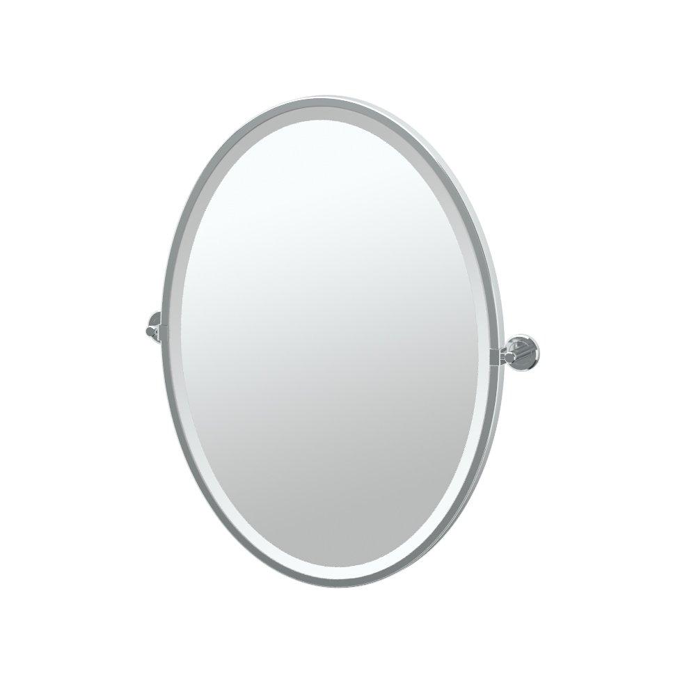 Gatco 4249F Latitude II Framed Oval Mirror, Chrome