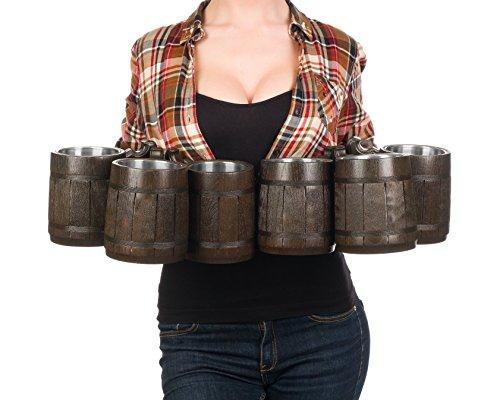 Beer Mug/Wooden Beer Mug/Tankard / Wood Mug By WoodenGifts - 0.6 Litres Or 20oz Wooden Mug - Wooden Coffee Mug with Stainless Steel Cup Inside by WoodenGifts (Image #6)