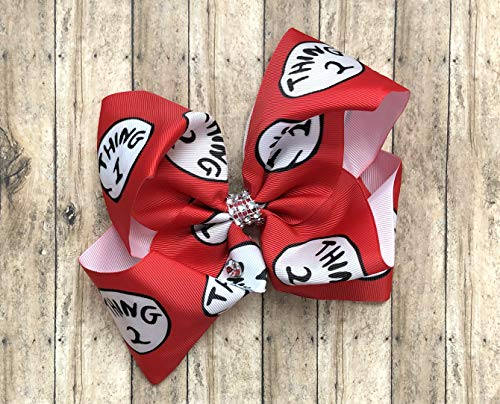Thing 1 and 2 Dr Seuss Inspired Hair Bow by Inspired Bows -