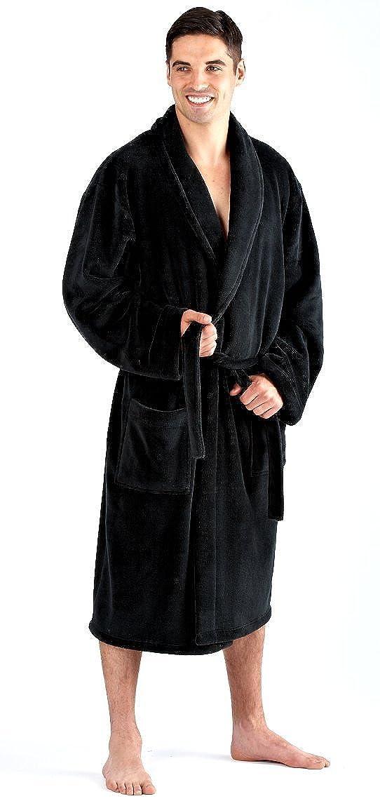 Vestaglia lunga da uomo in pile con cintura, per la casa, vestaglia con cintura Manufacturer