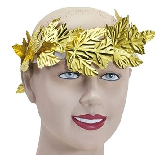 Dovewill Golden Leaf Roman Greek Goddess Laurel Wreath Fancy Dress Stage Costume Headband Head Decor Accessory