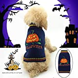 Delifur Halloween Pumpkin Dog Sweater Pet Costume Fashion Holiday Party Puppy for Dogs and Cats (XL)