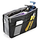 Sealike Nylon Travel Handbag Insert Makeup Bag Comestic Gadget Purse Organizer Black Case