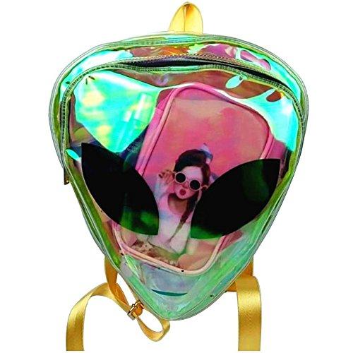 (Life Boost Alien Type Women's PVC Hologram Backpack Clear Bag Shoulder)