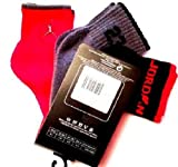 Nike Air Jordan Boys 3Pr Quarter Socks 10C-3Y HADDAD Red, Grey, Black