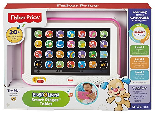51MqIN8Ku L - Fisher-Price Laugh & Learn Smart Stages Tablet, Pink