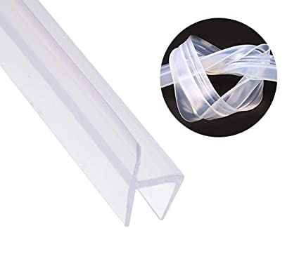 Shower Door Seal Strip Frameless Weatherproof Door Seal Flexible Silicone Sweep For Door And Windows Flexible Silicone Seal Fit For 38 Glass 10