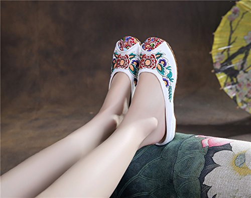 Women Embroidered Shoes Oxfords Shoes Bottom Internal increase wedge B0752FM5FF Shoes Oxfords a21a43