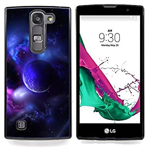 "Qstar Arte & diseño plástico duro Fundas Cover Cubre Hard Case Cover para LG G4c Curve H522Y ( G4 MINI , NOT FOR LG G4 ) (Purple Planet Universo Luna Galaxy estrella Nube"")"
