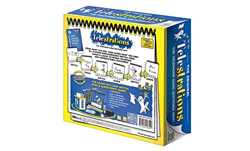 USAopoly Telestrations Original 8 Player Board Game | #1 LOL Party Game | Play with your friends and Family | Hilarious Game for All Ages | The Telephone Game Sketched Out by USAopoly (Image #3)