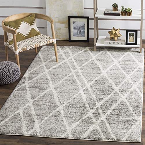 Safavieh Adirondack Collection ADR128B Ivory and Silver Vintage Area Rug 8 x 10