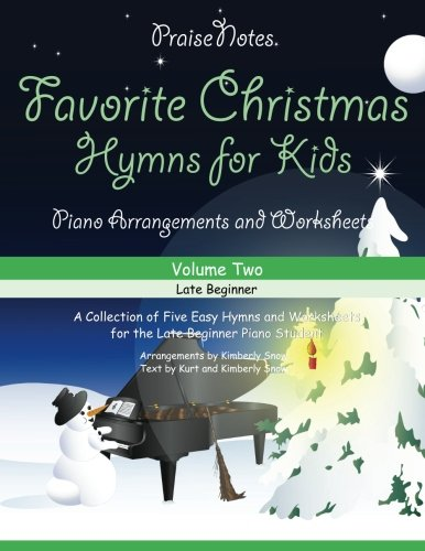 Favorite Christmas Hymns for Kids (Volume 2): A Collection of Five Easy Hymns for the Early and Late Beginner
