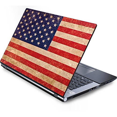 (Skinit Distressed American Flag Generic 12in Laptop (10.6in X 8.3in) Skin - Officially Licensed Originally Designed Laptop Decal - Ultra Thin, Lightweight Vinyl Decal Protection )