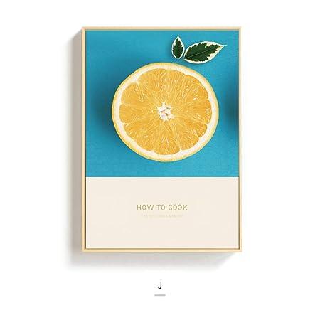 SCLPOSTER Cartel Moda limón decoración Pintura Cocina ...