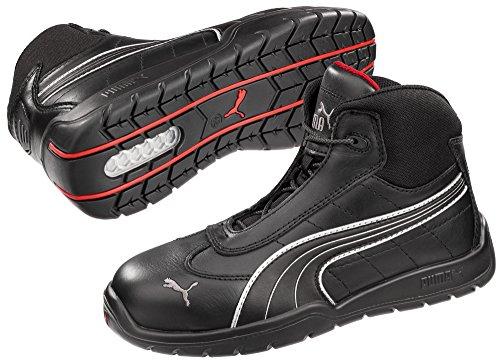 Puma Safety Black Mens Leather Daytona Mid SD WRU ST LaceUp Work Boots 10 (Daytona Boot)