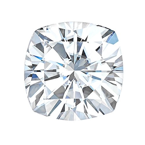 7.5 MM Cushion Cut Forever One® Moissanite by Charles & Colvard 81 Facets - Very Good Cut (1.80ct Actual Weight, 2.00ct Diamond Equivalent Weight) by Forever One® (Image #3)