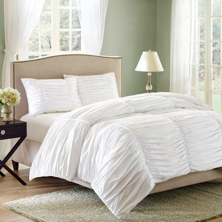 Better Homes and Gardens Ruched 3-Piece Bedding Comforter Mi