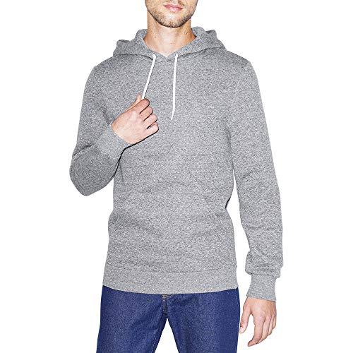 American Apparel Men's Peppered Fleece Long Sleeve Pullover Hoodie