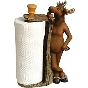 Friendly Moose Cabin Paper Towel Holder - Cabin Kitchen Decor