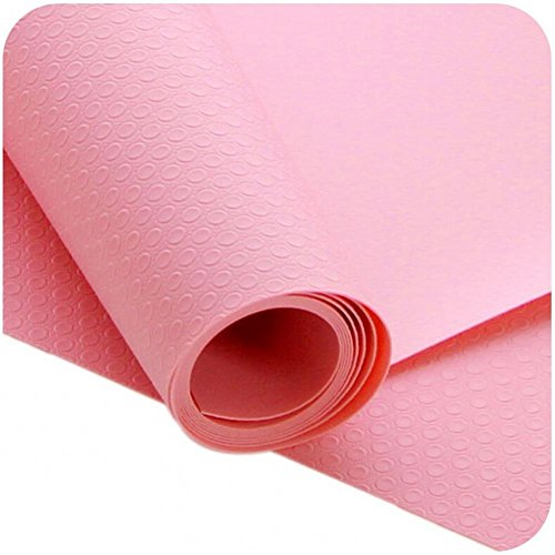 17 Inch Accessory Shelf (JINDIN Kitchen Shelf Liner Refrigerator Mat Can Be Cut Table Dining Anti-fouling Pad Drawer Wardrobe Cabinet Cover Roll Size 17 Inch Wide 59 Inch Long Pink)