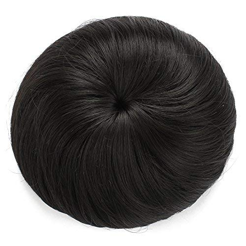 Onedor Synthetic Fiber Hair Extension Chignon Donut Bun Wig Hairpiece (2# - Darkest Brown) ()