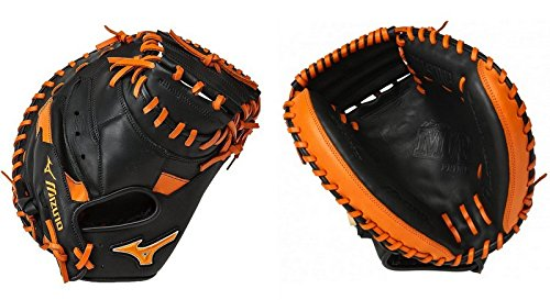 Mizuno MVP Prime Special Edition 34'' Catchers Mitt - GXC50PSE5, Black-Orange, 34 INCHES (3400) by Mizuno