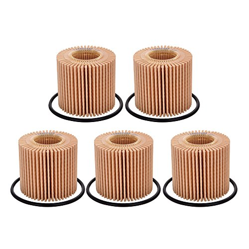 Catinbow 04152-YZZA6 04152-37010 Oil Filter for TOYOTA Prius Corolla Pontiac Vibe 1.8 LEXUS CT200h - 5 PCS