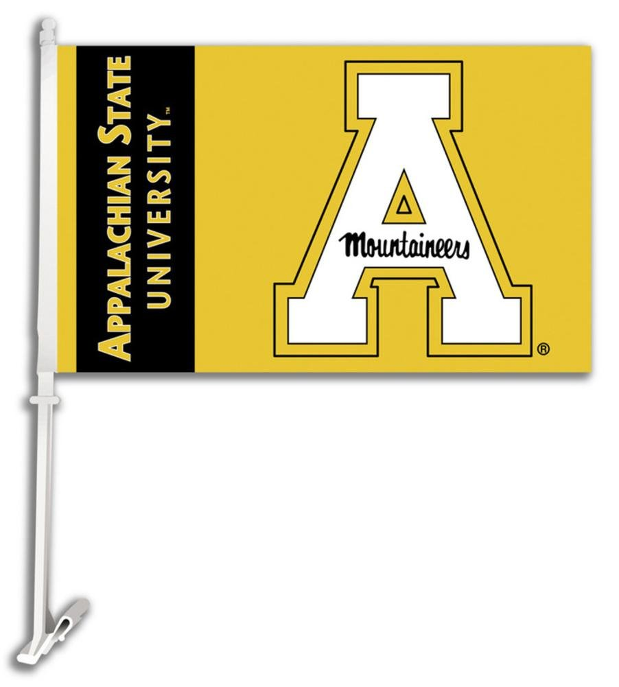 NCAA Appalachian State Mountaineers Car Flag with Free Wall Bracket